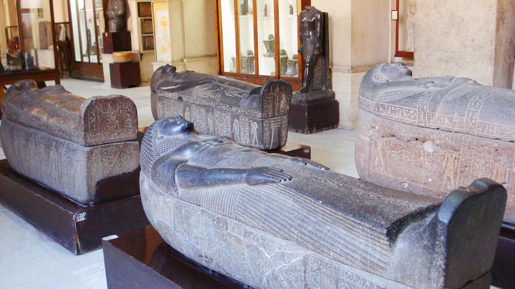 Show item 7 of 7. Egyptian artifacts inside the Egyptian Museum in Cairo