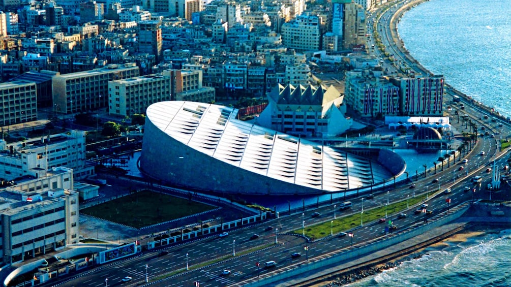 Aerial view of Alexandria during the day