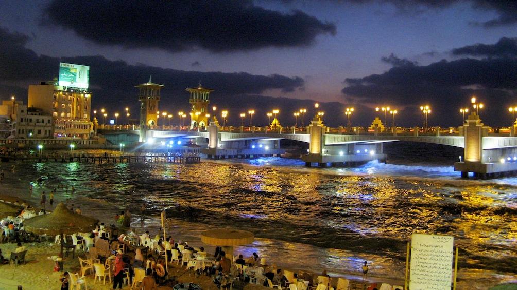 Beautiful night view of Alexandria
