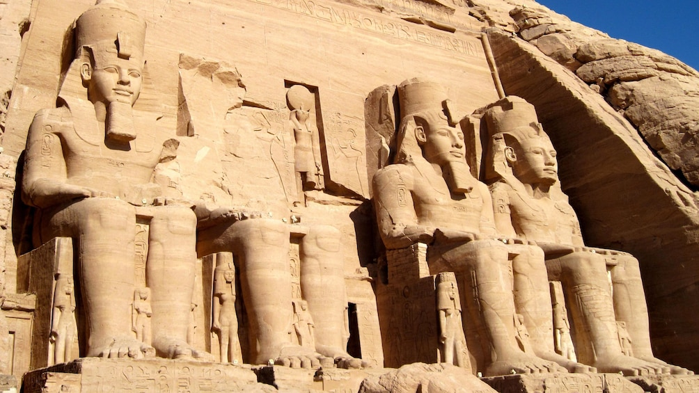 Show item 3 of 8. Day view of the Abu Simbel temples