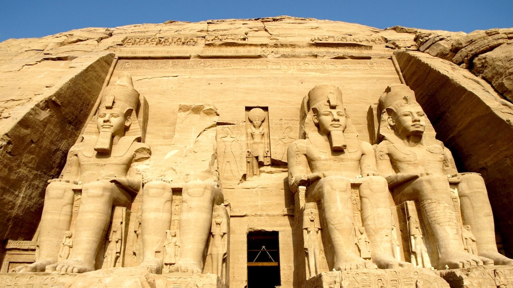 Show item 5 of 8. Close view of the Abu Simbel temples