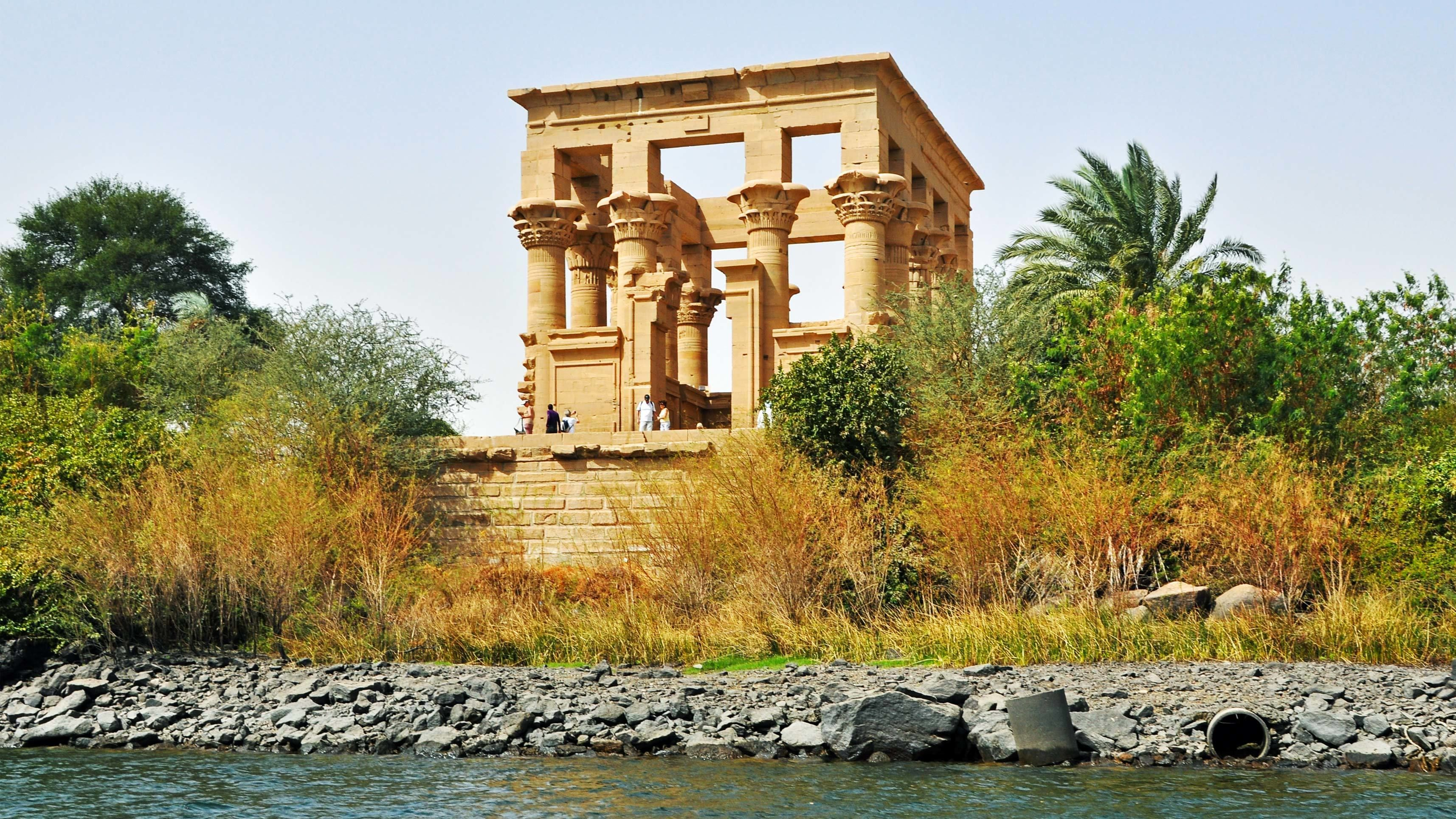 Trajan's Kiosk on the island of Philae in Aswan