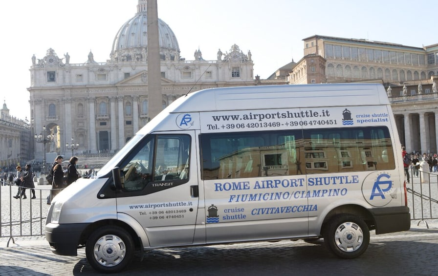 Show item 1 of 2. Shared Shuttle: Fiumicino Airport (FCO)