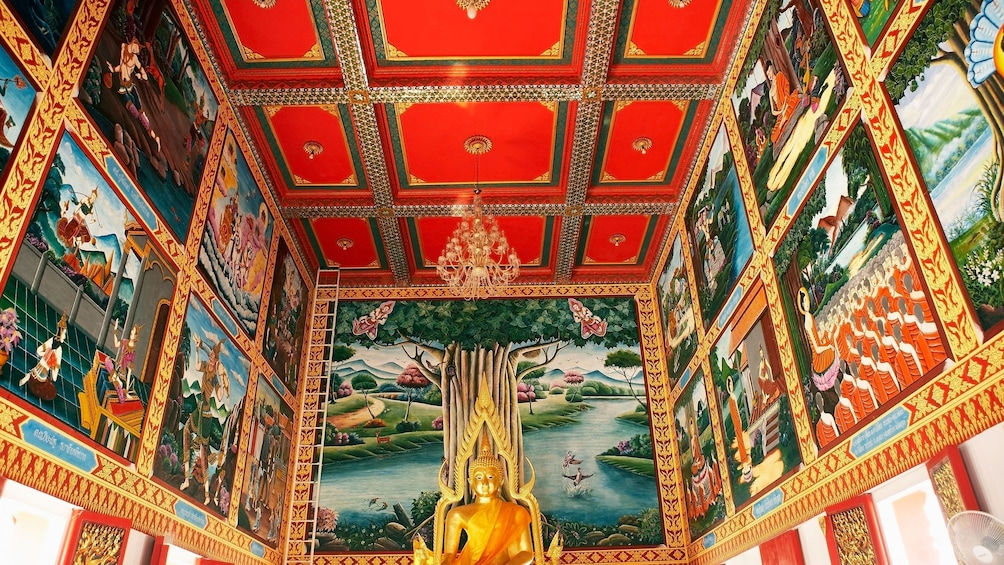 Inside a temple in Phuket