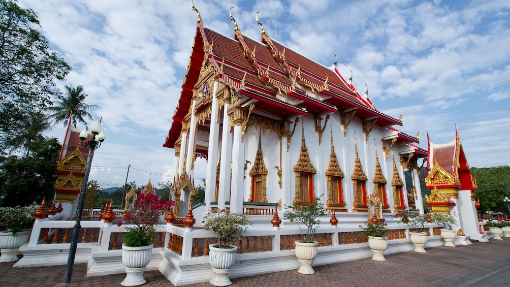 Show item 2 of 5. Stunning day view of the Wat Chalong in Phuket