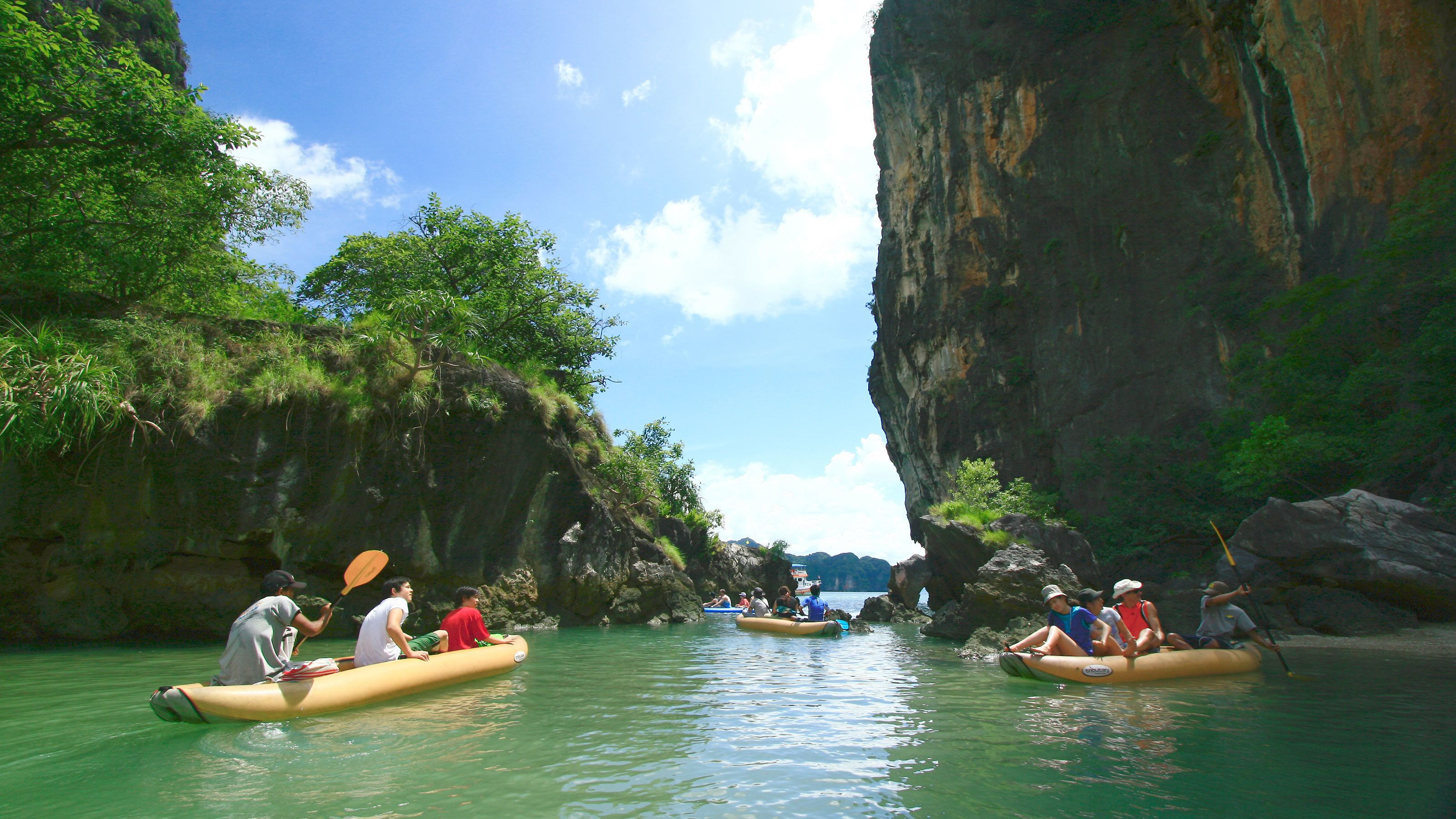 kayaking near the islands of Phuket