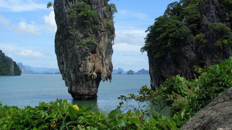 tall rock island in Phuket