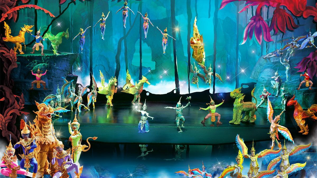 acrobatic performance at the Siam Niramit in Thailand