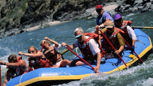 whitewater rafters setting off in Phuket
