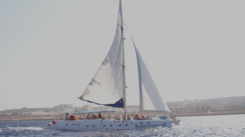sail boat in cyprus