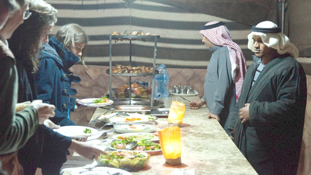 people dining in egypt