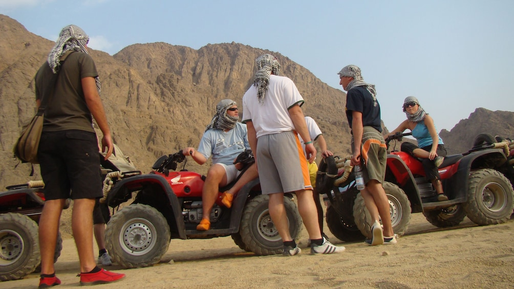 quad bikers stopped in the desert in Sharm el Sheikh