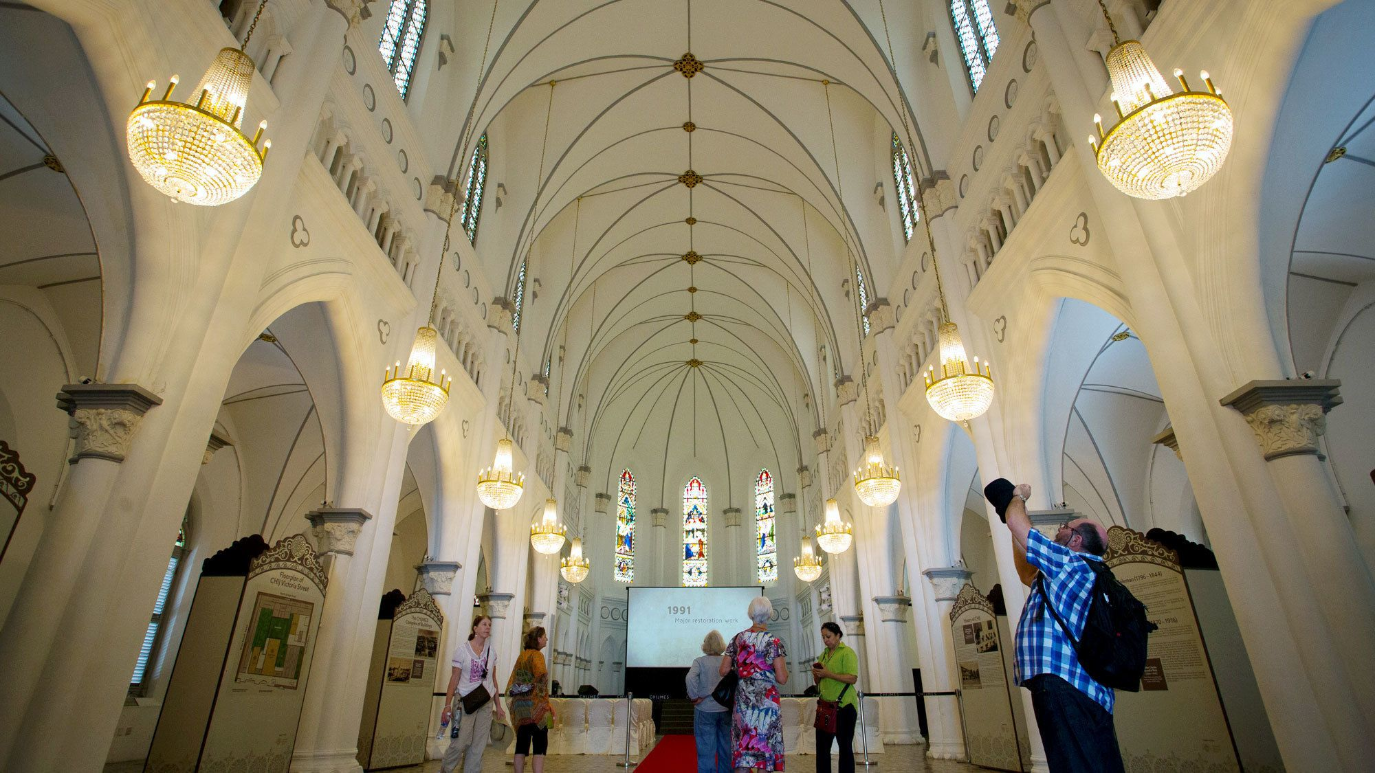 Inside CHIJMES a historic building in Singapore,