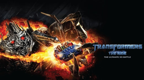 poster for transformers the ride at universal studios in singapore