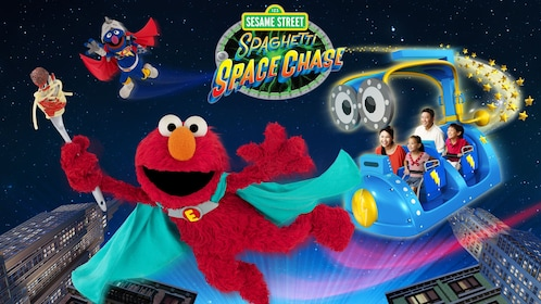 poster for Sesame street ride at universal studios in singapore