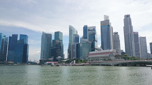Downtown view from river in Singapore