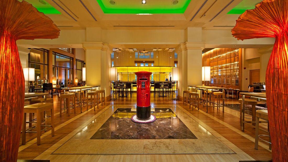 Inside the Fullerton Hotel