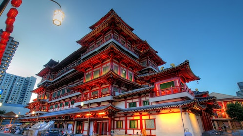architecture in china town in Singapore