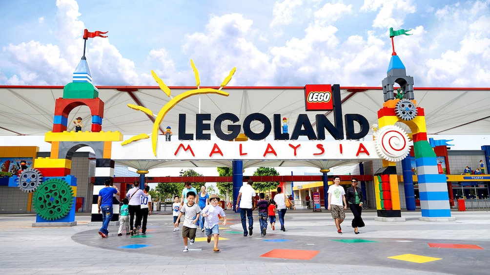 Show item 1 of 10. Entrance to Legoland in Singapore