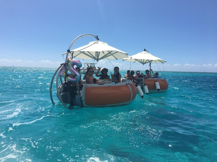 Show item 1 of 3. Discovery of the lagoon of Tahiti in Donuts Boats - 2 hour o