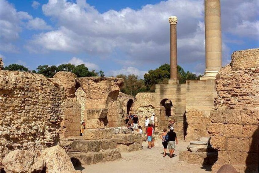 Archaelogical Site Of Carthage + Picturesque Village Of Sidi Bou Said