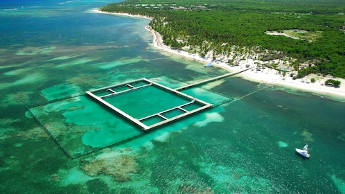 Enclosure in the water for dolphins in La Romana