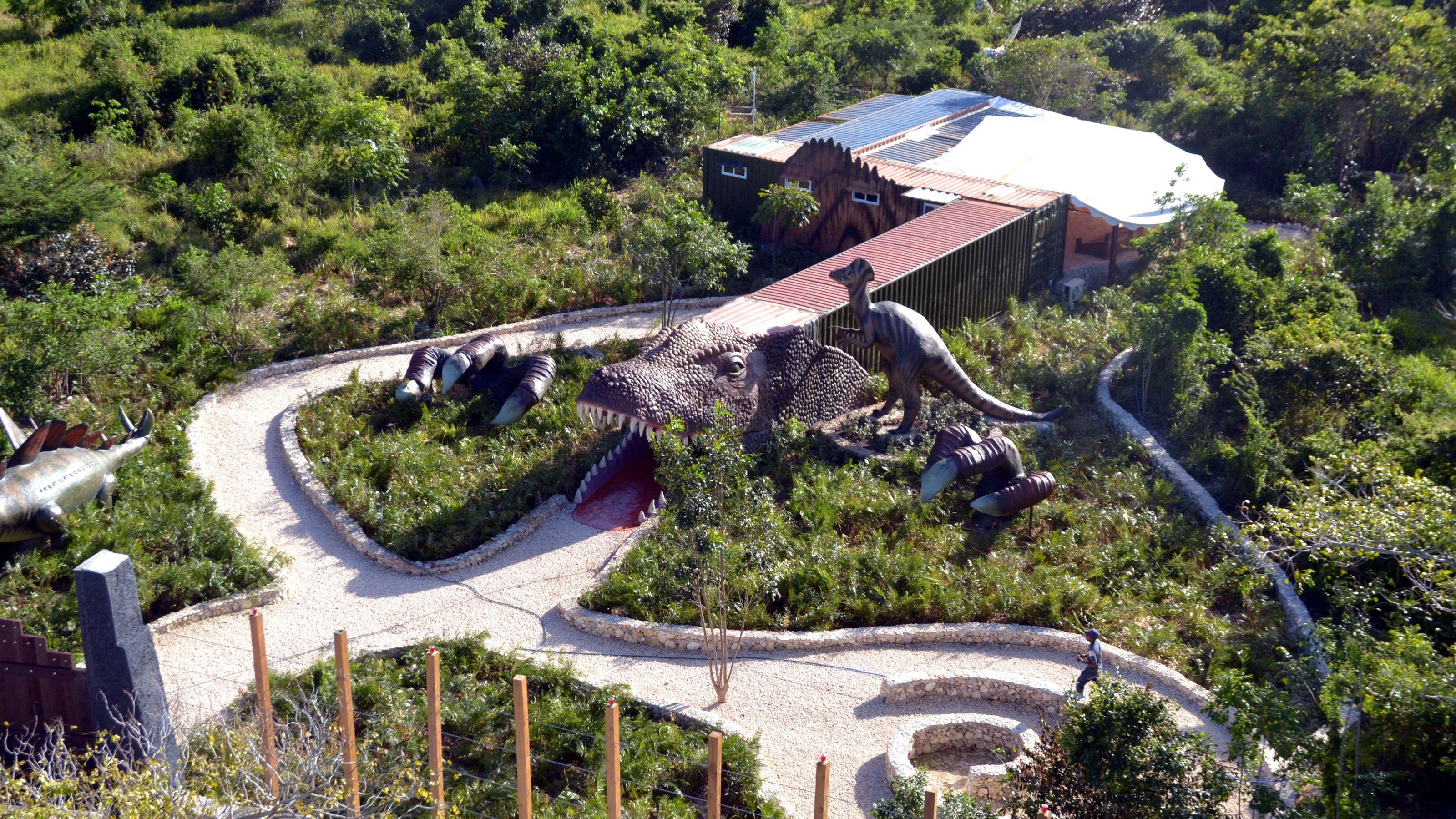 ariel view of dinosaur park in Santo Domingo