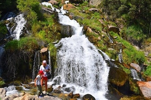 Hiking to Sotira waterfall in the holy mountain of Tomorr