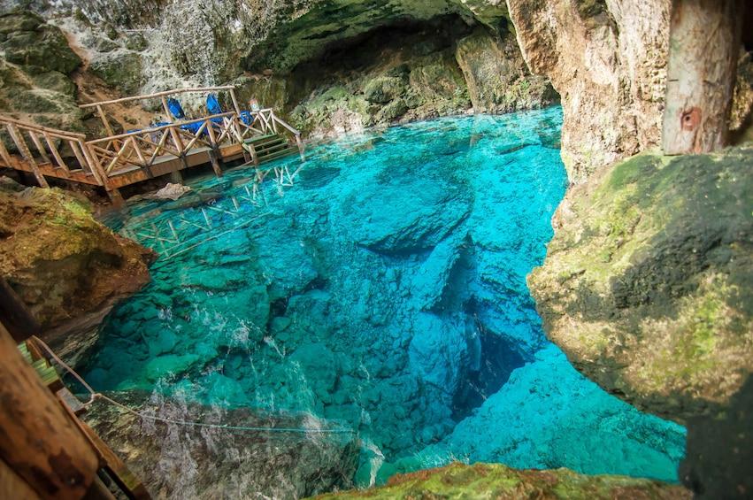 Show item 1 of 9. Juanillo Beach Catamaran Cruise & Cenote Swim