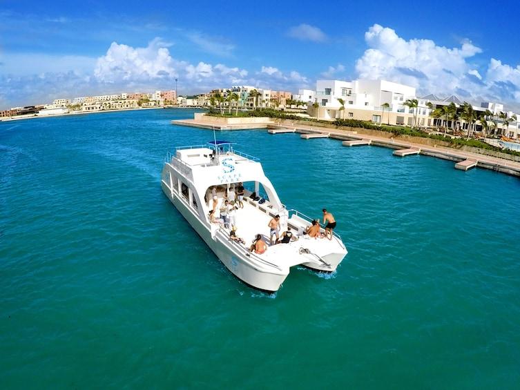 Show item 9 of 9. Juanillo Beach Catamaran Cruise & Cenote Swim