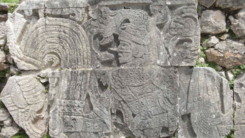 Stone carvings at the Mayan ruins of Chichen Itza