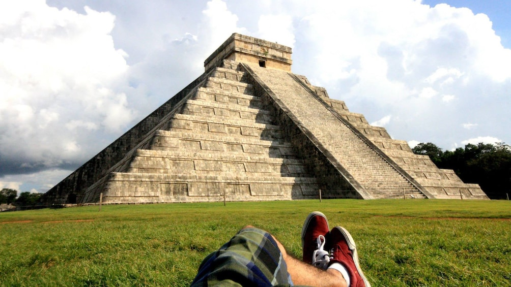 Show item 1 of 7. El Castillo pyramid at Chichen Itza