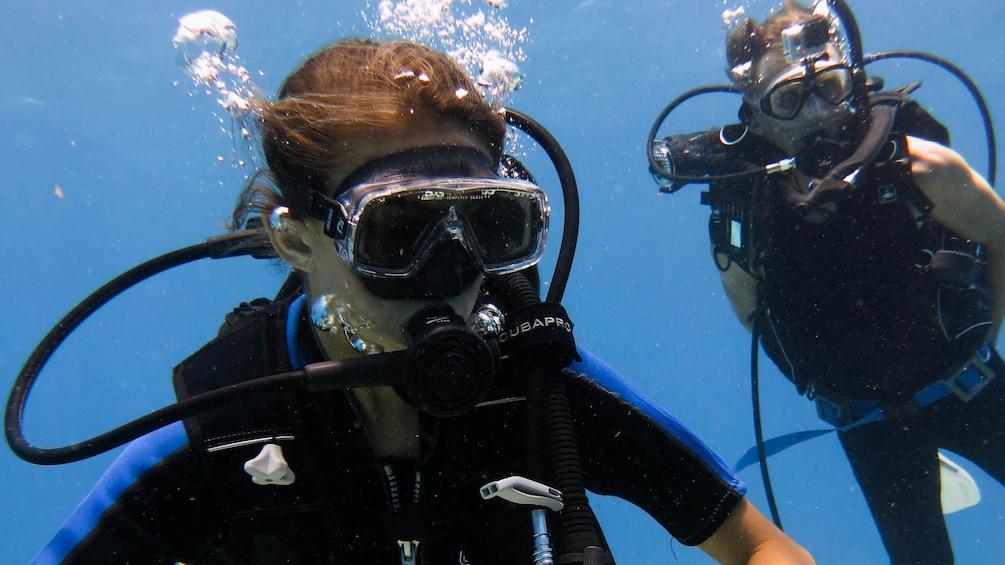 Scuba divers in Riviera Maya