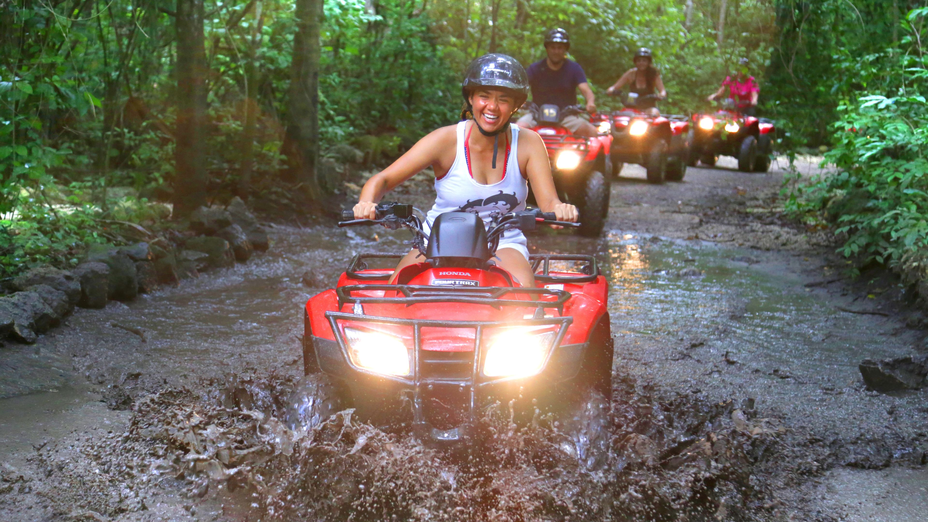 ATV tour of Cozumel trail