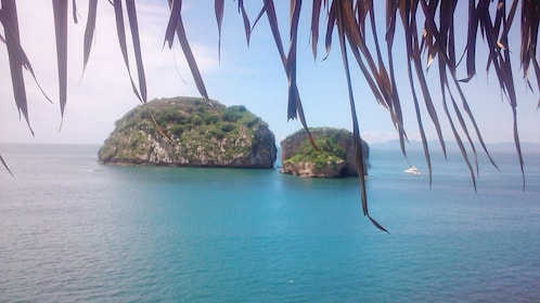 Los Arcos National Park is visible from the bay of Puerto Vallarta