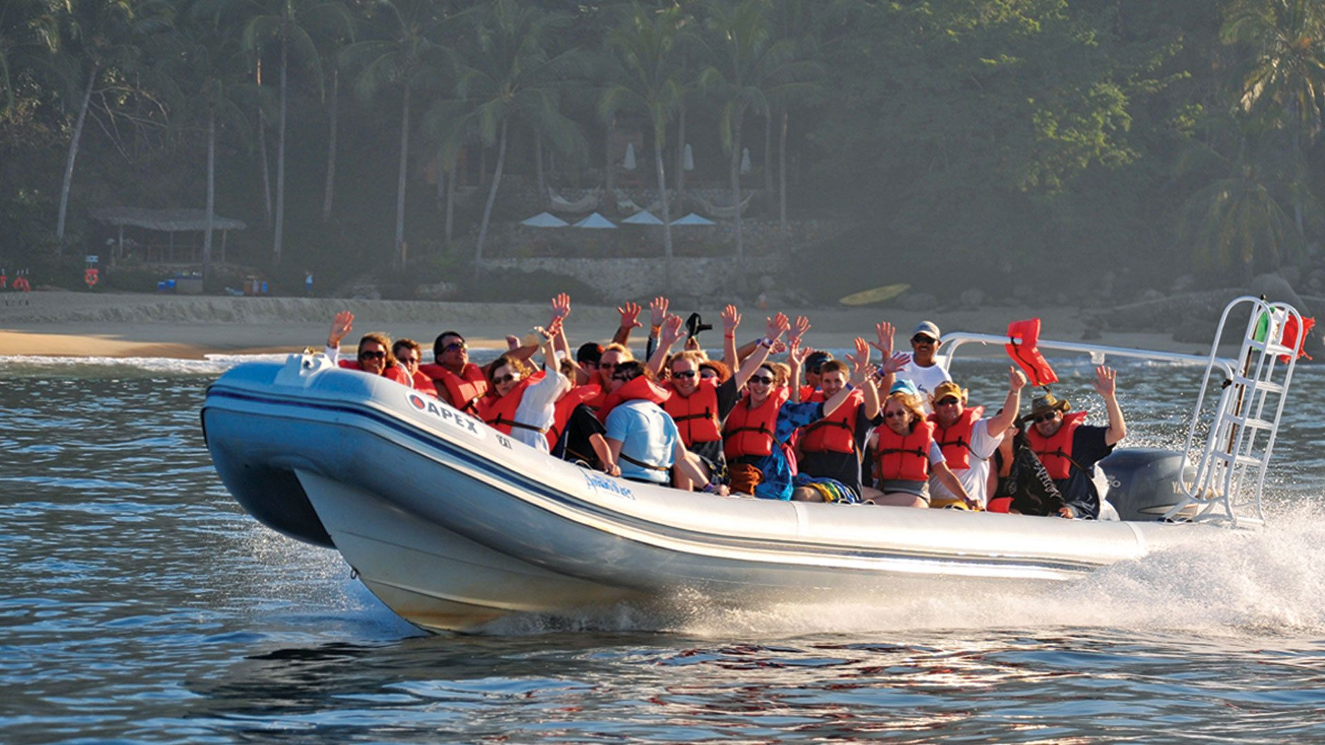 Take a quick boat ride from Puerto Vallarta to Boca de Tomatlan to start your ultimate adventure