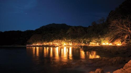 Night lights of Las Caletas near Puerto Vallarta