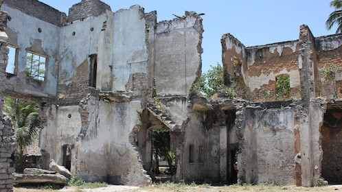 Ruined structures at Bagamoyo in Dar es Salaam
