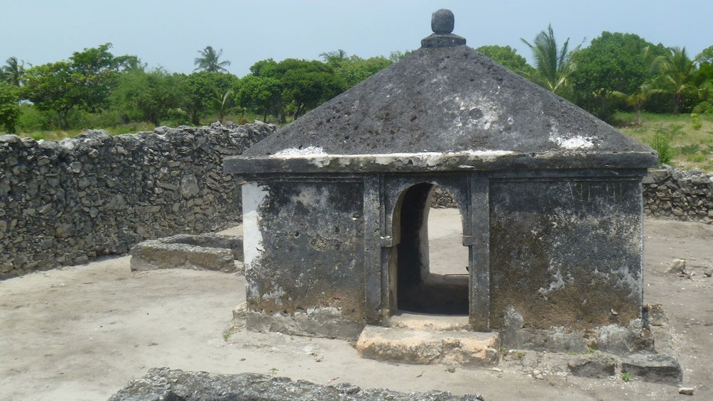 Show item 5 of 5. In tact structure at the Bagamoyo ruins in Dar es Salaam