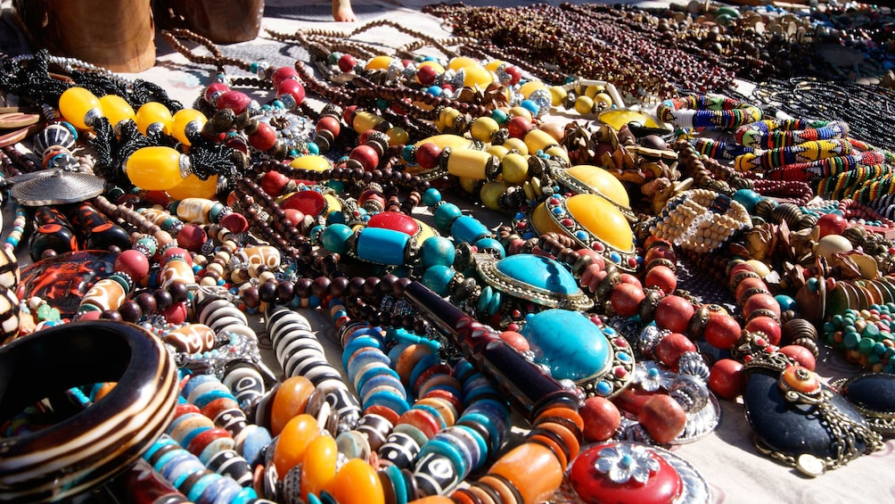 Show item 2 of 5. Colorful jewelry at the market in Salaam