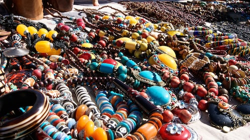 Colorful jewelry at the market in Salaam