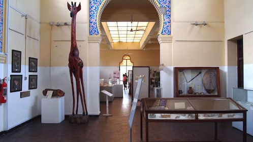 Inside the National Museum in Salaam