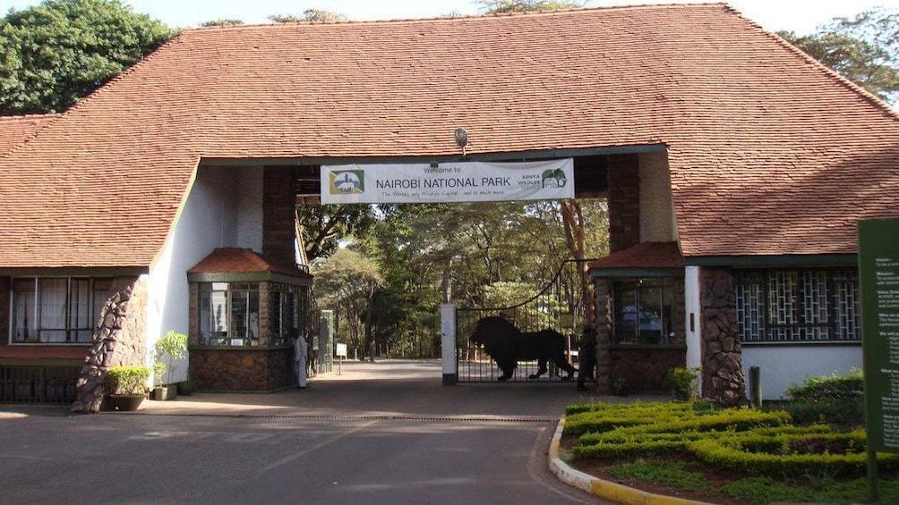 national park entrance in africa