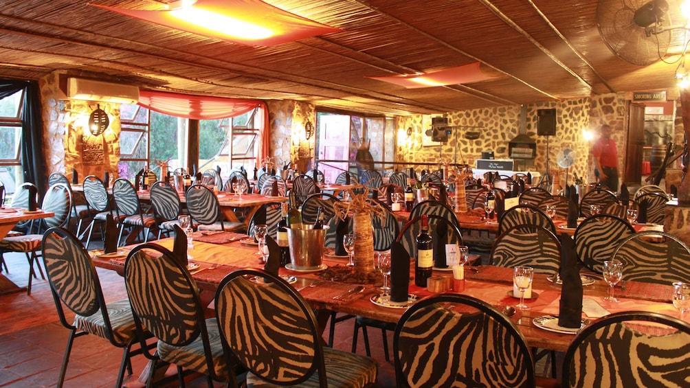 dining area in restaurant in africa