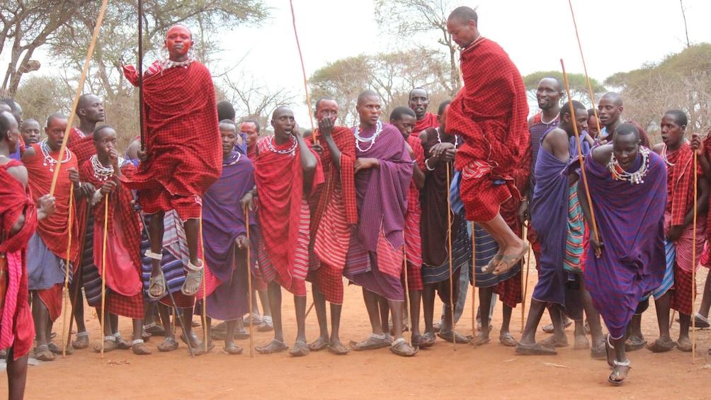 people dancing in africa
