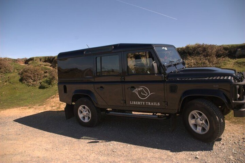 Whether its an airport transfer from Exeter or delivery of a picnic lunch on Dartmoor, the trusty Landrover Defender is a perfect pick up!