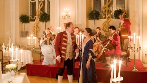 People at the Mozart Dinner Concert in Salzburg