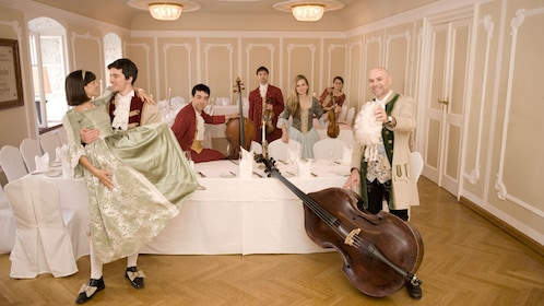 Performers at the Mozart Dinner Concert in Salzburg