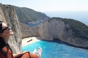 Zakynthos island: One day tour to Navagio Shipwreck Beach Blue Caves & top ...