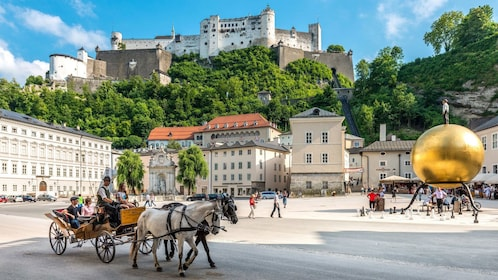 Beautiful view of Salzburg during the day